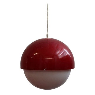 Large Red and White Plastic Vintage Light