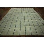 Image of Abstract Eton Blue Moroccan Area Rug - 8' x 10'