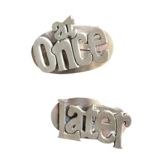 MCM Retro at Once & Later Brass Large Paper Clips