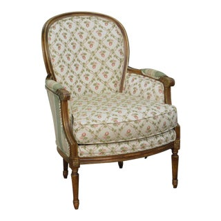 Robert Allen French Louis XVI Style Bergere Chair