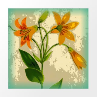Vintage Daylilies Archival Print