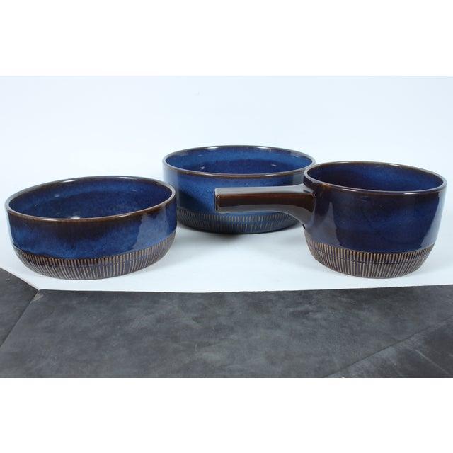 Mid-Century Cobalt Bowls - Set of 3 - Image 2 of 4