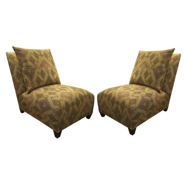 Donghia Villa Custom Ikat Chair - Image 2 of 11