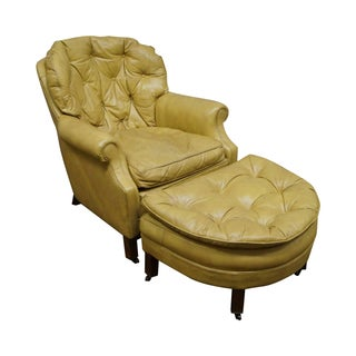 Classic Leather Vintage Tufted Lounge Chair