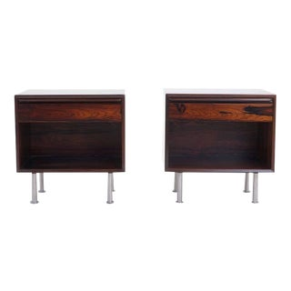 Pair of Rosewood Nightstands with Drawer by Westnova, Norway
