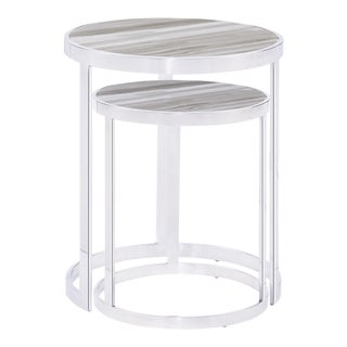 Blink Home White Nesting Tables - A Pair