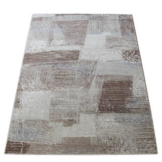 "Brown Faded Transitional Rug - 5'3"" x 7'7"""