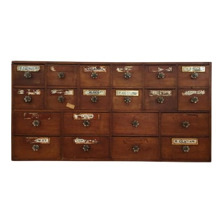 1800s English Apothecary Cabinet