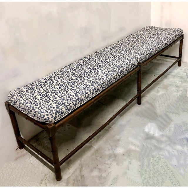 Extra Long Faux Bamboo Bench - Image 3 of 6