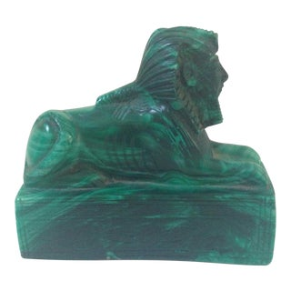 Full Malachite Sphinx Sculpture