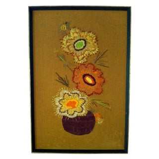 Retro Flower Needlepoint Art