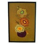 Image of Retro Flower Needlepoint Art
