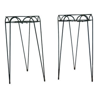 French Hair Pin Plant Stands - A Pair