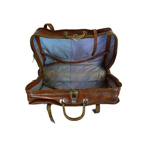 Vintage Leather Travel Bag - Image 6 of 6