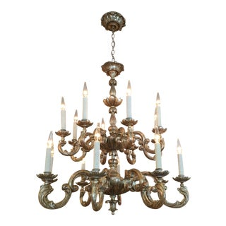 Randy Esada Designs for Prospr Carved Italian Gilt Wood Chandelier