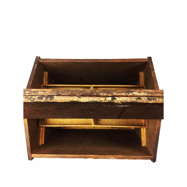 Antique Victorian Wooden Standing Sewing Box - Image 5 of 6