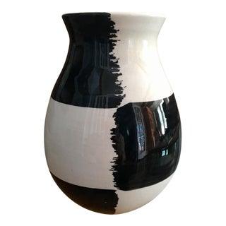 Mid-Century Modern Black & White Bitossi Vase