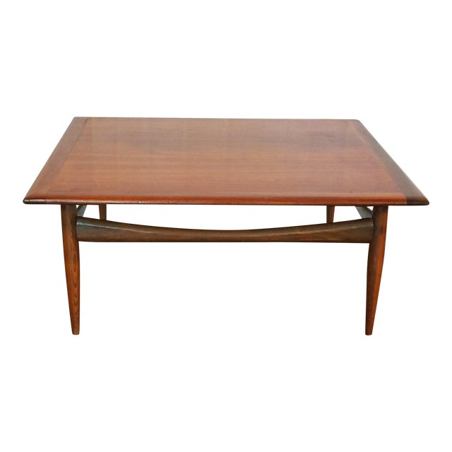 Mid century modern walnut coffee table chairish for Buy modern coffee table