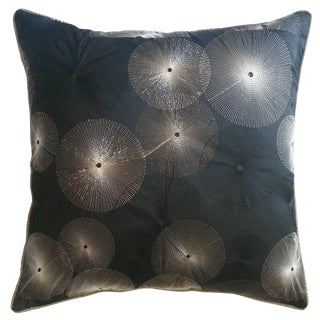 Black Sunburst Pillow Cover
