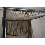 Image of Black And Gold Painted French Queen Canopy Bed