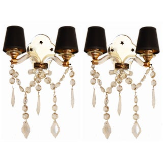 Vintage C. 1940's French Sconces - A Pair