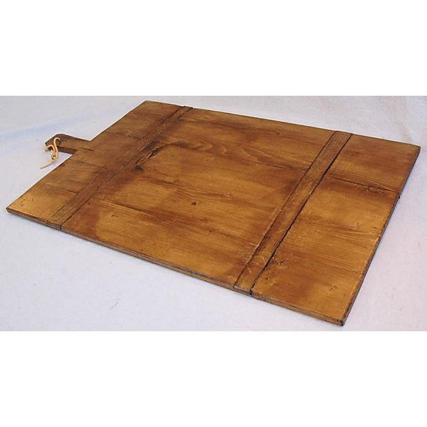 Image of Large Antique French Bread Cutting Culinary Board