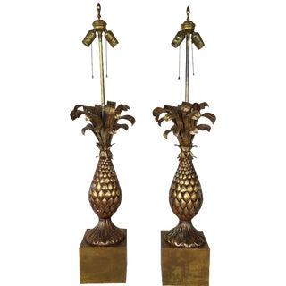 Vintage Pineapple Lamp - A Pair