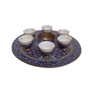 1930s Vintage Persian Coffee Cup Set - 14 Pieces
