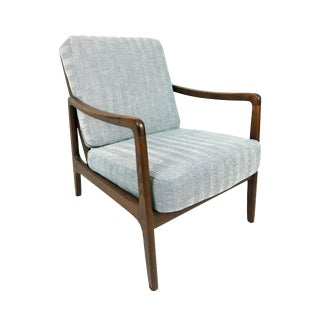 "Ole Wanscher France & Daverkosen Mid-Century Herringbone ""Easy Chair"" Model 109"