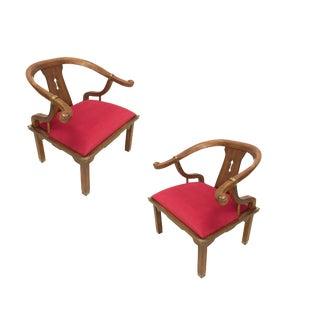 Vintage James Mont Style Ming Chairs - A Pair