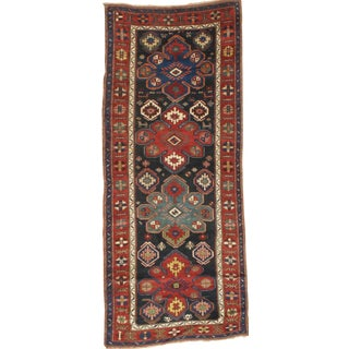 "Pasargad N Y Antique Russian Kazak Lamb's Wool Rug - 3'11"" X 9'5"""