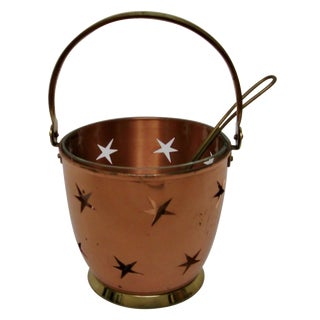 1950s Copper Ice Bucket with Stars
