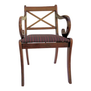 """Bombay Co."" Single Mahogany Chair"