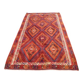 "Vintage Turkish Kilim Rug - 5'3"" X 9'6"""