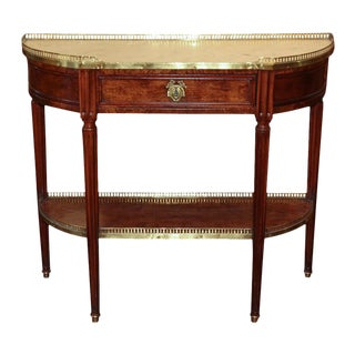 French Directoire Walnut Console