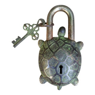 Cast Iron Turtle Mystery Lock