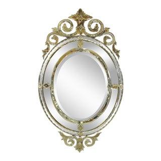 Venetian Cut Glass Wall Mirror