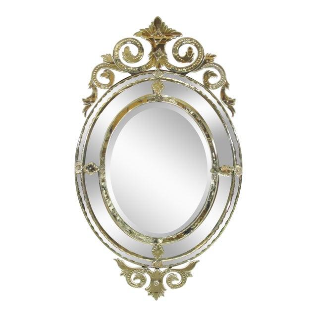 Venetian Cut Glass Wall Mirror - Image 1 of 8