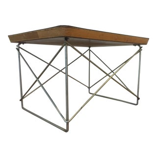 Vintage Eames Ltr Wire Base Table