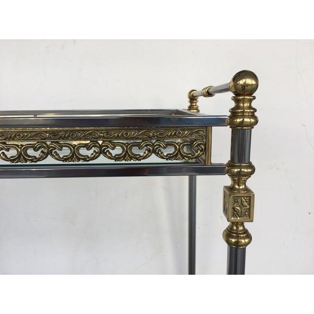 Modern and Classic Italian Brass & Glass Bar Cart - Image 4 of 8