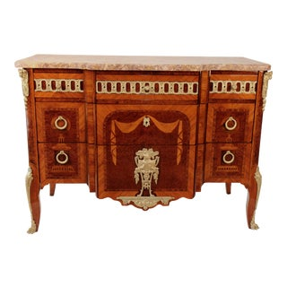 Circa 1880 Inlaid Marquetry French Chest
