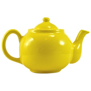 1950s Yellow Ball Teapot