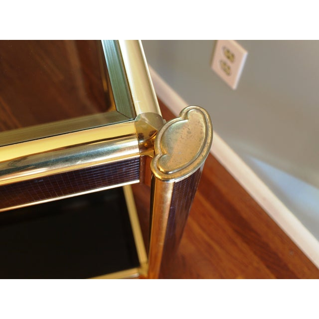 Black Sequin Wrapped Gold Console Table - Image 4 of 9