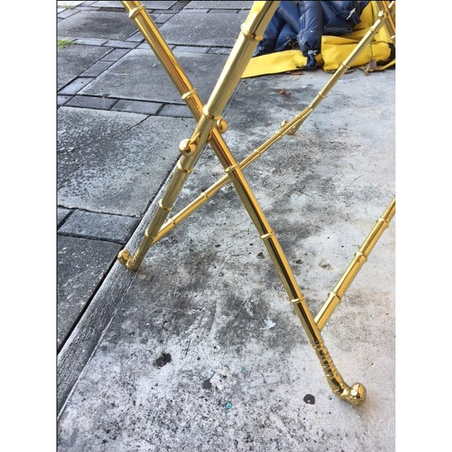 Contemporary Brass Bar Table - Image 7 of 8