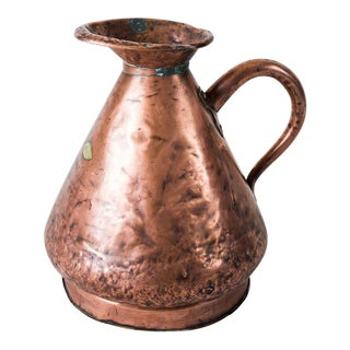 Large Four Gallon Victorian English Copper Ale-Beer Measuring Jug