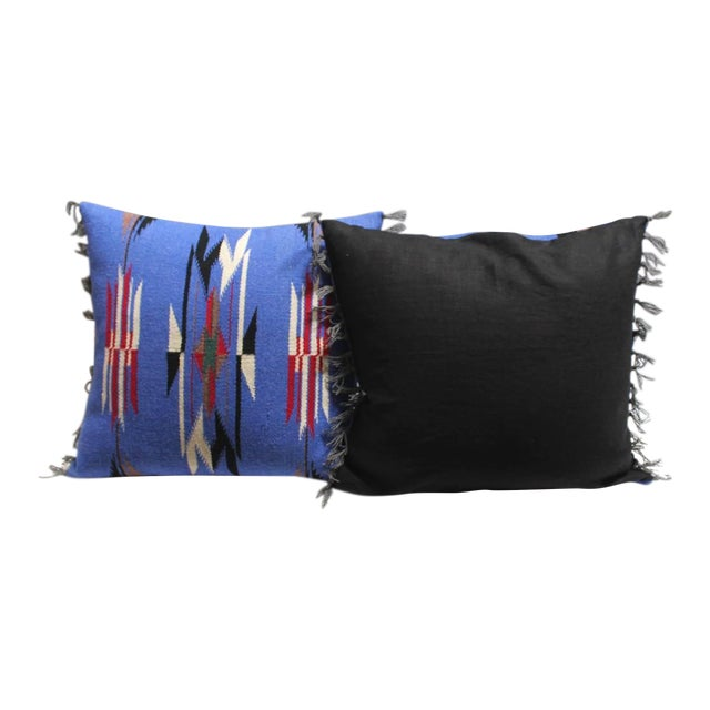 Pair of Mexican-American Chimayo Indian Weaving Pillows - Image 1 of 4