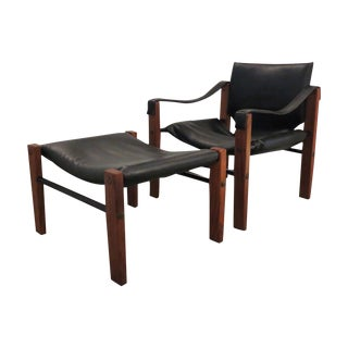 Maurice Burke Vintage Safari Chair And Ottoman Set