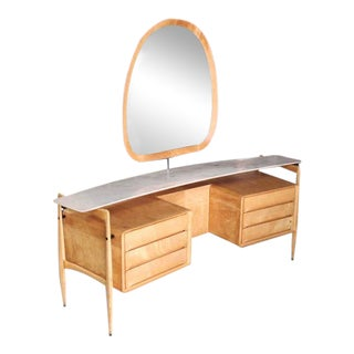Mid-Century Italian Modern Vanity Dressing Table