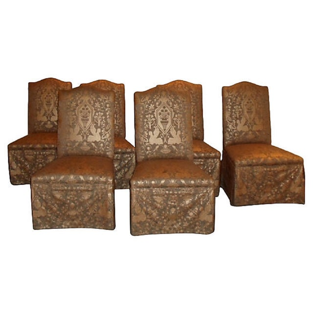 Image of Chic Upholstered Dining Chairs - Set of 6