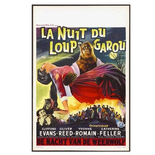 """Belgian Movie Poster from """"The Curse of the Werewolf"""" Circa 1961"""